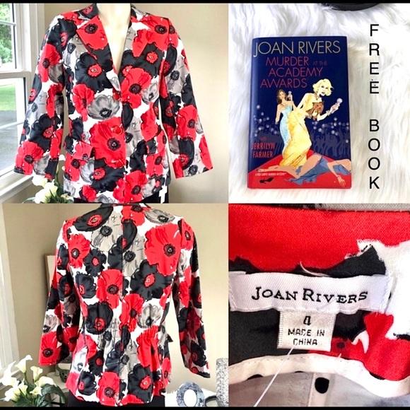 John Rivers VIBRANT Floral jacket + GIFT dress blazer poppies